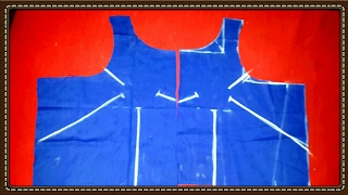 Easy boat neck blouse cutting video