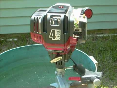 4 CYCLE 1/2 HP.   HOME MADE  OUTBOARD