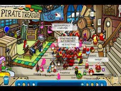 Meeting Rockhopper On Club Penguin