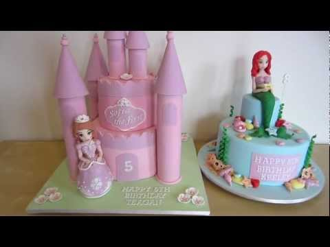 Sofia the First & Ariel the Little Mermaid Cake (which figurine would you like a how to on?)
