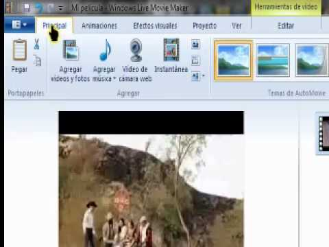 Guardar videos en Movie maker .wmv live Movie Maker 2011  Windows 7