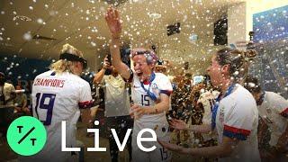 U.S. Women's Team Arrives Home After Winning World Cup