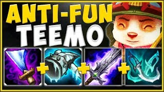 MAKE THE ENEMY TOP MISERABLE! ANTI-FUN TEEMO IS 100% TOO GOOD! TEEMO TOP GAMEPLAY! League of Legends