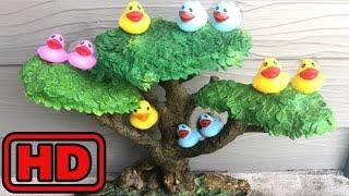 Kid -Kids -Five Little Ducks l Nursery Rhymes For Babies l Videos For Kids Duck Toys Swimming In Wa
