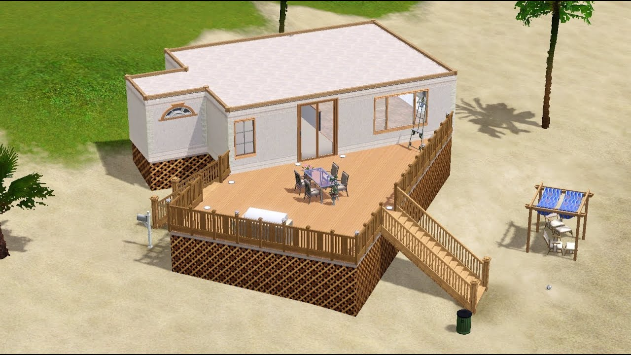 The sims 3 lets build small beach house youtube for Beach house plans sims 3
