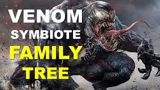 Venom Symbiote Family Tree