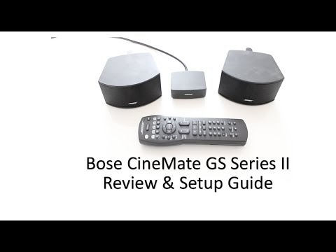 Bose CineMate GS Series II Speakers Review & Setup Guide (2013)