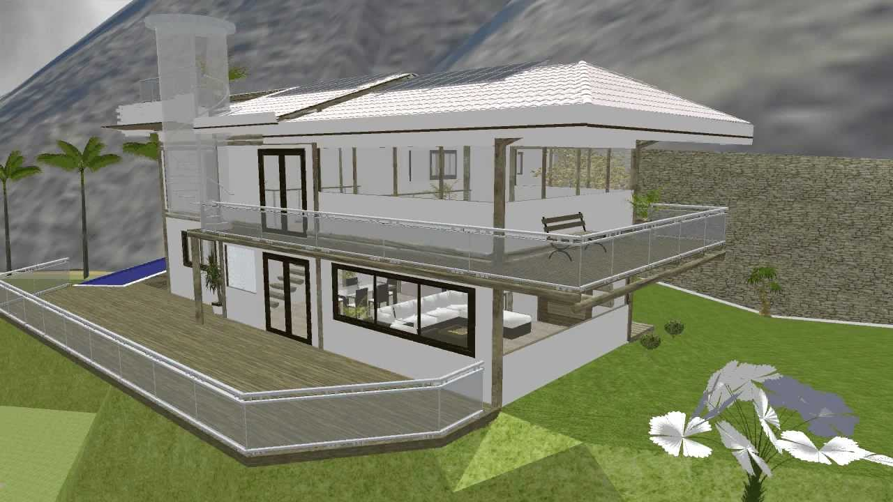 Projeto casa sitio completo sketchup 8 montain house for Paginas para construir casas