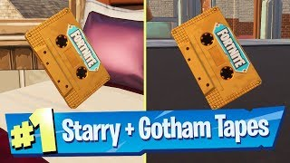 Collect the Visitor recording in Starry Suburbs and Gotham City - Fortnite (Out Of Time Challenge)