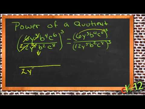 Power of a Quotient: A Sample Application