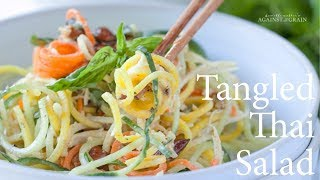 Recipe: Tangled Thai Salad with Spiralized Noodles (Best Spiralized Noodle Recipe) | Danielle Walker