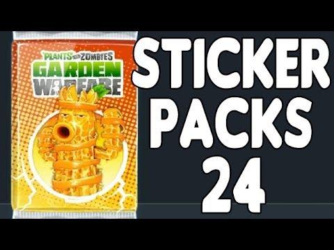 2 fruchtige neue Figuren ! Plants vs Zombies Garden Warfare Sticker Packs Opening Part 24 German