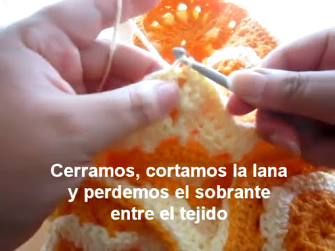 Cartera con cuadrados a crochet (granny square) - I