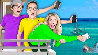 Last to Drop iPhone Wins $10,000 Challenge in Hawaii! **Worst Idea** Matt and Rebecca