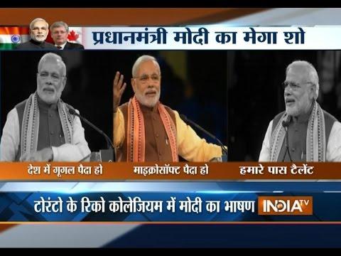 People chants Modi-Modi during his address to Indian diasporea in Canada