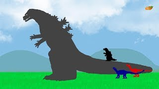 Godzilla Zilla and Funny Dinosaurs - Amazing Stories | Dinosaurs Cartoons for Children 2018