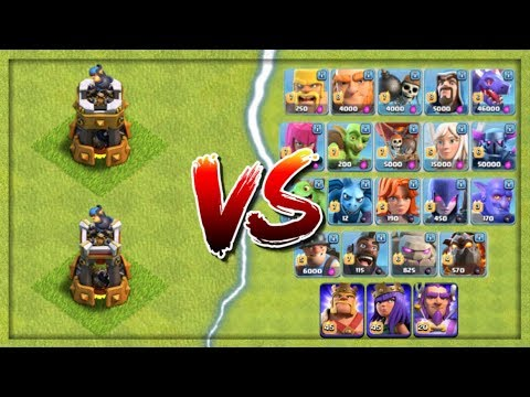 ALL TROOPS vs BOMB TOWER LEVEL 6 - Clash of Clans Update 2017! CoC New Troop Level Attacks!