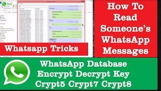 WhatsApp Database Encrypt Decrypt Key for WhatsApp Viewer   WhatsApp Tricks & Tweaks