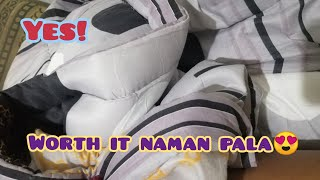 COMFORTER FROM LAZADA WORTH IT BA? | CHECK NATIN