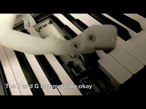 Roland FP-1 Digital Piano Broken Key Repair and Hammer Replacement