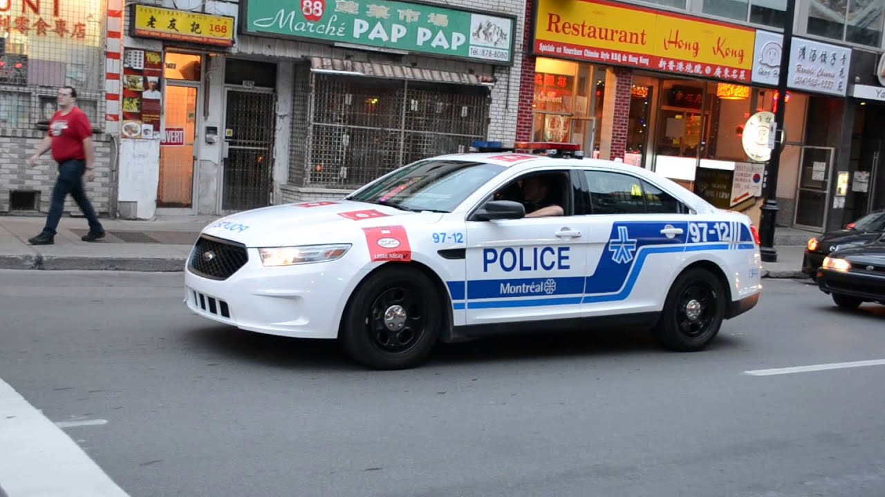 SPVM 2014 FORD TAURUS MONTREAL POLICE CAR - YouTube