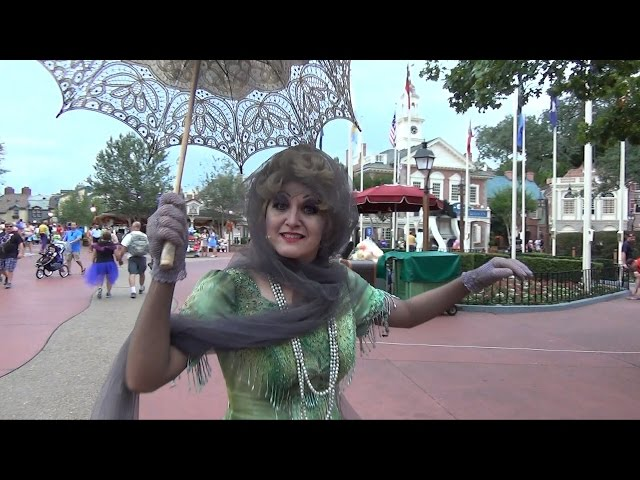 Madame Renata Greets us at Mickey's Not So Scary Halloween Party, on way to Haunted Mansion