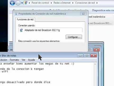 COMO SUBIR LOS MEGAS DE MI INTERNET (funciona 100%)  w7