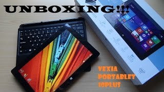 Unboxing Vexia Portablet 10plus (Win8.1)