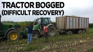 Bogged tractor (Difficult recovery)