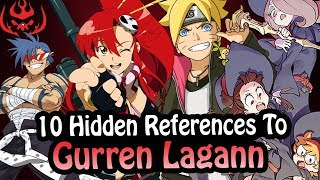 10 References To Gurren Lagann Hidden In Other Works!