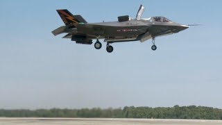 F-35B Completes First Vertical Takeoff & Landing