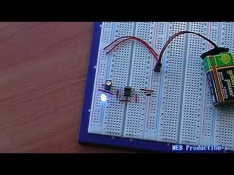 1Hz LED Blinker Using 555 Timer Chip
