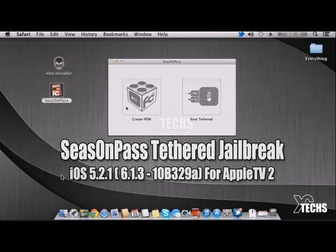 Seas0nPass Tethered Jailbreak 5.2.1 (iOS 6.1.3 - 10B329a) For AppleTV 2