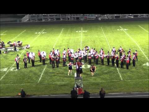 Orrville High School Marching Band at the 2014 Mogadore Band Show
