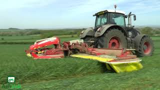 Silage 2018. Alvis Fendt 939 Black Beauty Mowing