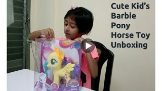 Kid's Cutest Barbie Pony Horse Cartoon Unboxing