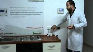 Elettrovalvola bistabile per gas Tekniconvert associata a rilevatore fughe di gas.MPG