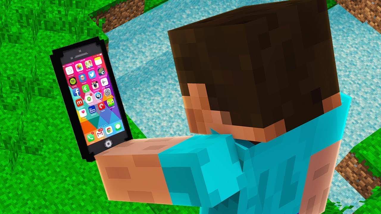 HOW TO GET A WORKING iPHONE IN MINECRAFT!