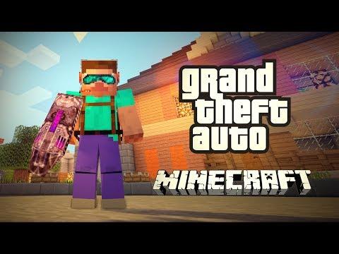 Grand Theft Auto! GTA! - Minecraft (Обзор Модов)