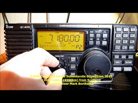 Ham Radio DX ZL9HR Campbell Island Subantarctic DXpedition 2012 Received In Scotland On Icom IC-R75