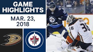 NHL Game Highlights | Ducks vs. Jets - Mar. 23, 2018