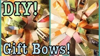 Diy: Gift Bows + Ideas For Wrapping Gifts