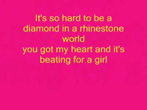 diamond in a rhinestone world blood on the dance floor lyrics