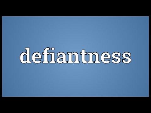 Header of defiantness