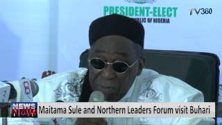 Maitama Sule and Northern Leaders Forum visit Buhari
