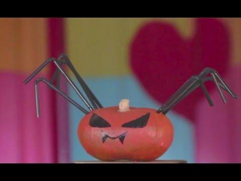 C mo hacer una calabaza en forma de ara a para halloween - Calabazas decoradas para halloween ...