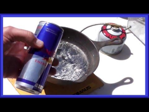 RED BULL vs Molten Lead -  ART Project  - Super Leidenfrost Effect