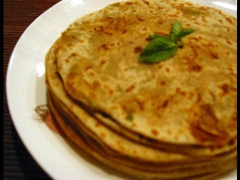 Recipe - Gobi Paratha (Wheat Flour & Cauliflower Snack) Recipe With English Subtitles