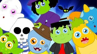 Ten In The Bed Scary Nursery Rhymes | Halloween Songs For Children & Kids By Baby Box