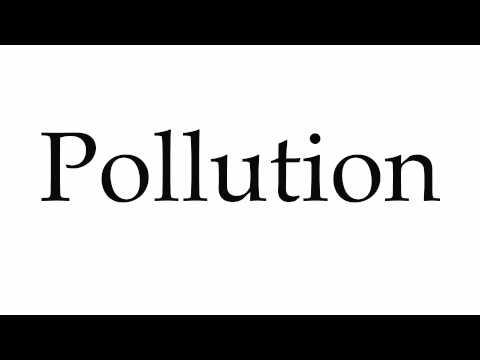 How to Pronounce Pollution